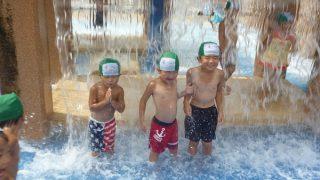 水の広場で水遊び!!